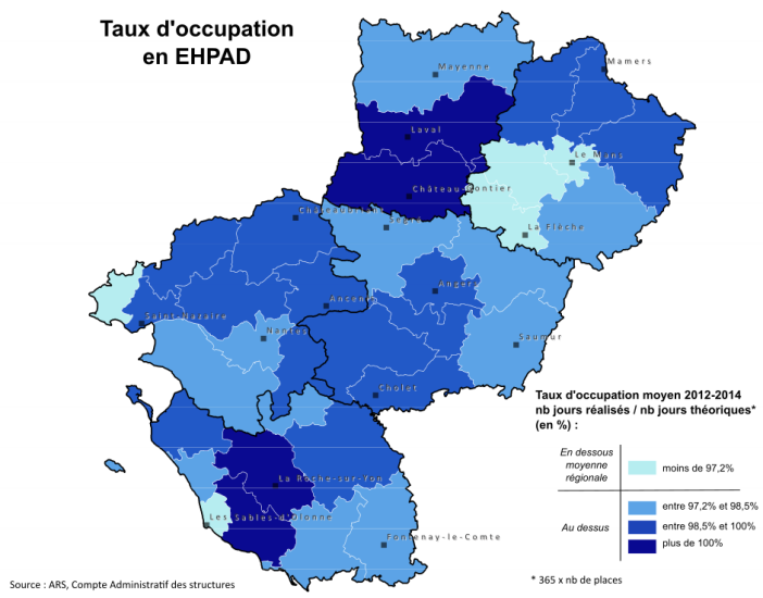 Carte taux occupation ehpad